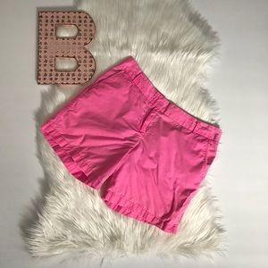 Neon pink chino shorts